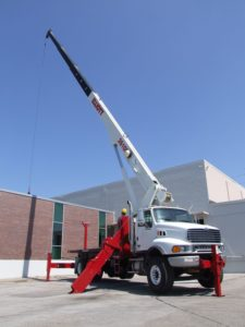 crane lifting HVAC euipment